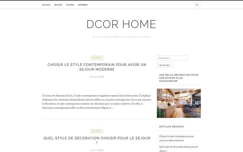 Dcor home - Le site pour apprendre à bien décorer sa maison